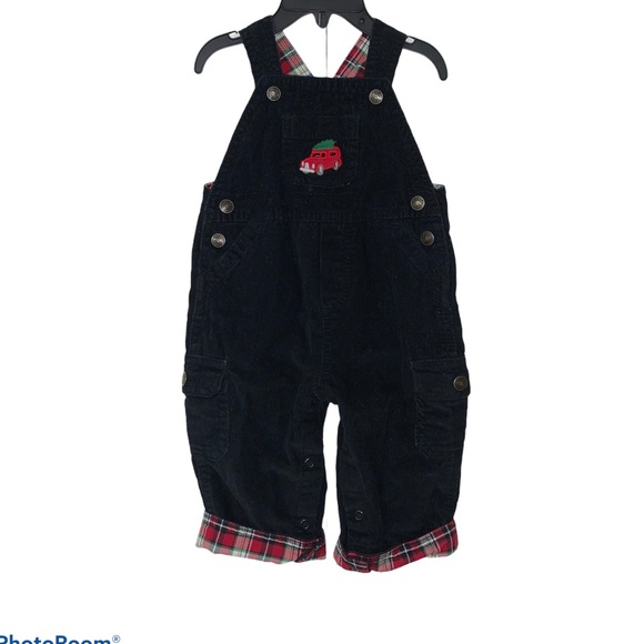 Carter's Corduroy Holiday Overalls Size 6 months